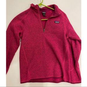 pink Patagonia half zip ♡